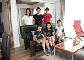 事務所兼住居をリノベーションし、6人家族に相応しい余裕ある快適空間へ。